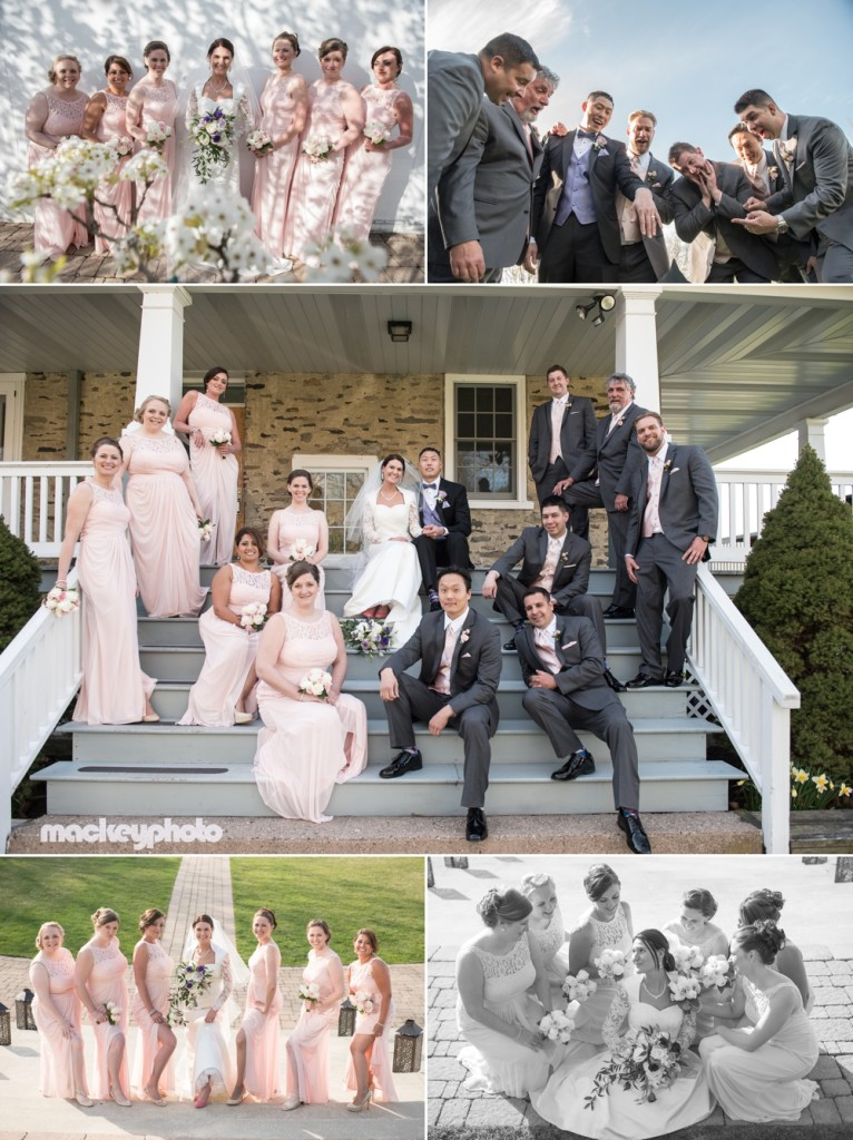 Wedding Party at the Lake House in Perkasie, Pa