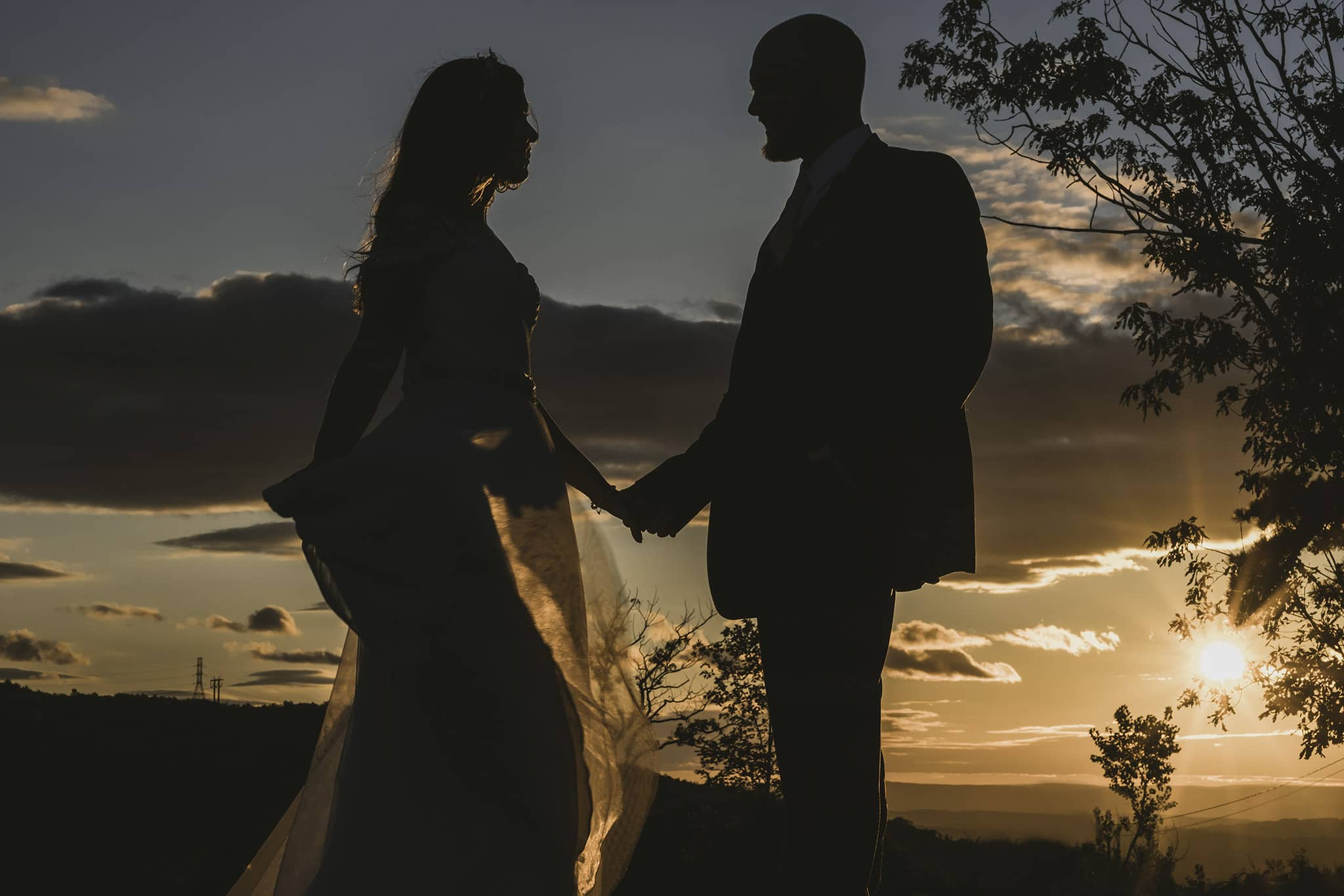Sunset Wedding at Blue Mountain