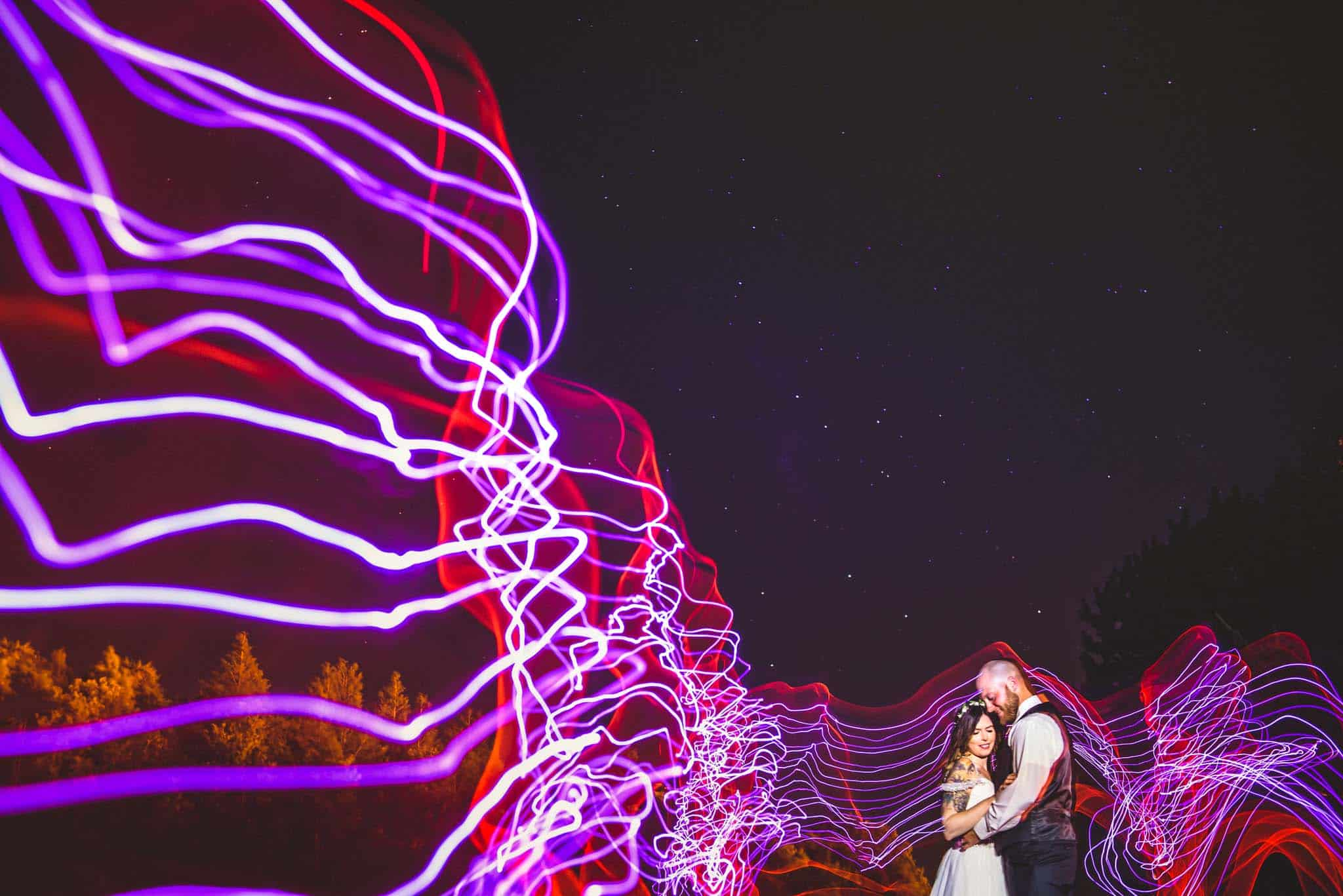 Bride and Groom Light painting