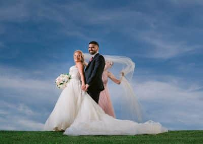 Couple on hill at Tolino Winery Wedding