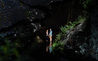 Poconos Waterfall / Engagement / Rachel & Brian