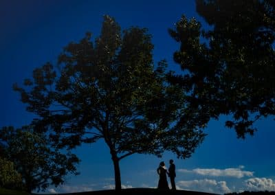 couple on hill at woodstone country club